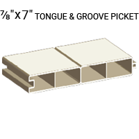 "7/8"" x 7"" Tongue and Groove Picket"